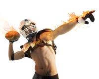 Bola de fuego del fútbol Fotografía de archivo libre de regalías