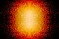 Bola de fuego que brilla intensamente Scratched Imagen de archivo libre de regalías