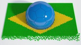 Bola de futebol brasileira do campeonato do mundo Imagem de Stock Royalty Free