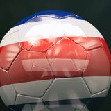 bola de futebol 3d com Costa Rica Flag Illustration Fotos de Stock