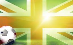 A bola de futebol 3d do futebol rende o fundo Imagens de Stock