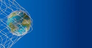 Bola de futebol 3d-illustration Elementos desta imagem fornecidos perto Fotos de Stock Royalty Free