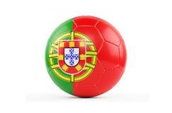 bola de futebol 3d isolada no branco Imagem de Stock
