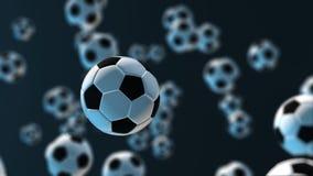 Bola de futebol da iluminação ilustração 3D ilustração royalty free