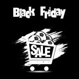 Bola de futebol da venda de Black Friday Fotografia de Stock