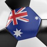 Bola de futebol de Austrália Imagem de Stock