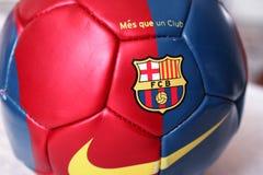 Bola de futebol de Barcelona Imagem de Stock Royalty Free