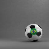 Bola de futebol de Brasil Fotografia de Stock