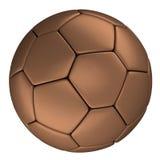 Bola de futebol de cobre, isolada no fundo branco Imagem de Stock Royalty Free