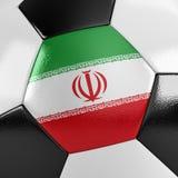 Bola de futebol de Irã Fotografia de Stock Royalty Free