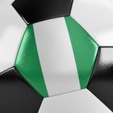Bola de futebol de Nigéria Fotos de Stock Royalty Free