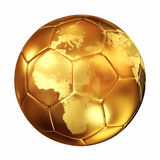 Bola de futebol do campeonato do mundo ilustração royalty free