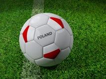 Bola de futebol do Polônia Foto de Stock Royalty Free