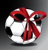 Bola de futebol do presente Fotografia de Stock