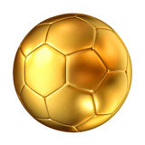 Bola de futebol dourada Fotos de Stock Royalty Free