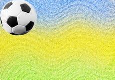 Bola de futebol e as cores da bandeira de Brasil Foto de Stock Royalty Free