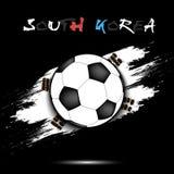 Bola de futebol e bandeira de Coreia do Sul Imagens de Stock Royalty Free