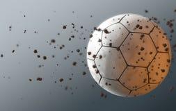 Bola de futebol em voo Fotos de Stock