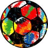 Bola de futebol/ilustração do futebol, vetor sujo do estilo Fotografia de Stock Royalty Free