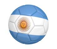 Bola de futebol isolada, ou futebol, com a bandeira de país de Argentina ilustração royalty free