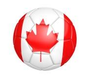Bola de futebol isolada, ou futebol, com a bandeira de país de Canadá ilustração do vetor