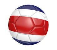 Bola de futebol isolada, ou futebol, com a bandeira de país de Costa Rica ilustração do vetor