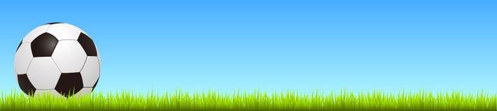 Bola de futebol na grama - vetor ilustração stock