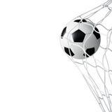 Bola de futebol na rede isolada Foto de Stock