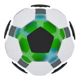 Bola de futebol que consiste nas peças desligado Imagens de Stock Royalty Free