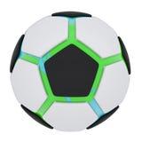 Bola de futebol que consiste nas peças desligado Fotografia de Stock