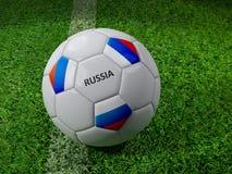 Bola de futebol de Rússia Foto de Stock