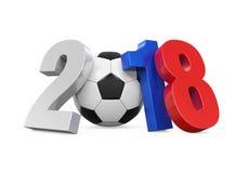 Bola de futebol Rússia 2018 Imagem de Stock Royalty Free