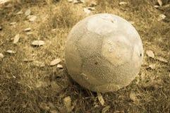 Bola de futebol velha Imagens de Stock