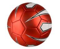 Bola de futebol vermelha Fotos de Stock