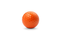 Bola de golfe alaranjada imagem de stock