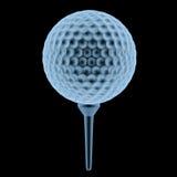 Bola de golfe do raio x no T Imagens de Stock Royalty Free