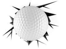 Bola de golfe em furo rachado ilustração do vetor