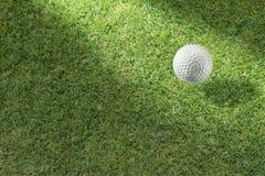 Bola de golfe no verde Imagem de Stock