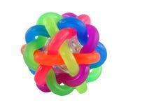 Bola de goma colorida aislada Imagen de archivo libre de regalías
