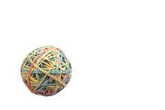 Bola de goma en izquierdo foto de archivo libre de regalías