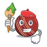 Bola de grillo del artista en una cesta de la mascota libre illustration
