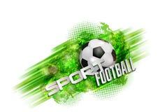 Bola de la bandera del fútbol Fotografía de archivo