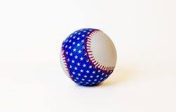 Bola de la base de la bandera americana Fotos de archivo libres de regalías