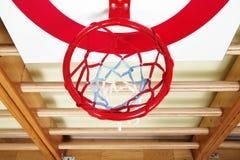 Bola de la cesta y tablero de la blanco del tiroteo Imagen de archivo libre de regalías