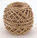 Bola de la cuerda de Brown Imagenes de archivo