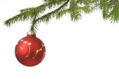 Bola de la decoración de la Navidad Foto de archivo libre de regalías