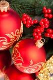 Bola de la decoración de la Navidad Imágenes de archivo libres de regalías