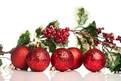 Bola de la decoración de la Navidad Imagen de archivo libre de regalías