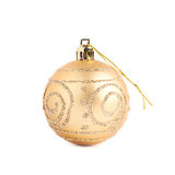 Bola de la decoración de la Navidad aislada Foto de archivo libre de regalías