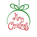Bola de la Feliz Navidad con el fondo blanco Foto de archivo libre de regalías
